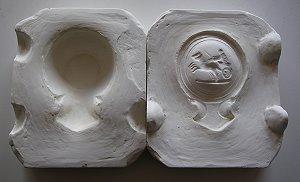 Herstellung Reproduktionen von antiken römischen Öllampen