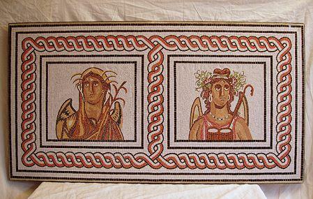 »Herbst und Winter«, eine Reproduktion eines römischen Mosaiks
