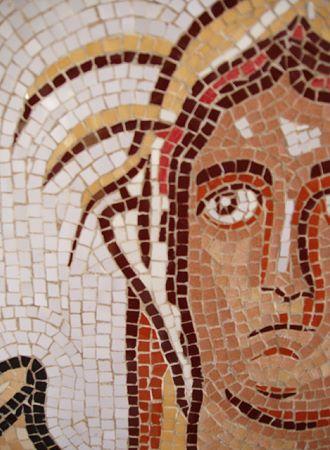 »Herbst und Winter«, Detail einer Reproduktion eines römischen Mosaiks