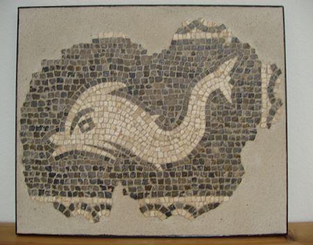 »delfin«, eine Reproduktion eines römischen Mosaiks