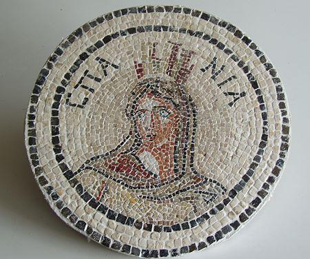 »Hispania«, eine Reproduktion eines römischen Mosaiks