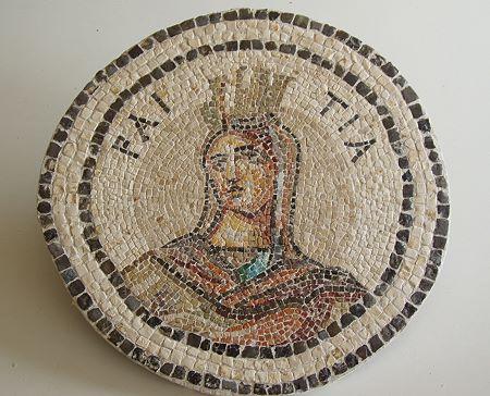 »Raetia«, eine Reproduktion eines römischen Mosaiks