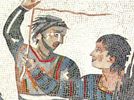 Sieger-Quadriga, eine Reproduktion eines römischen Mosaiks